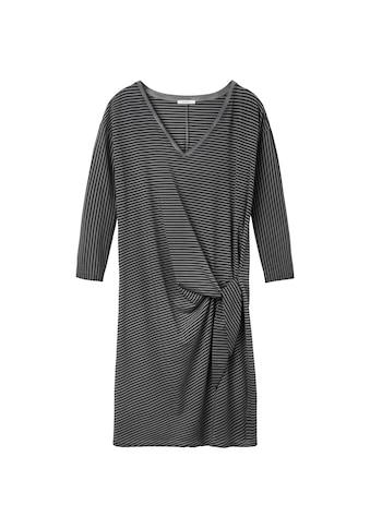 Sandwich Gestreiftes Kleid mit Knopfdetail kaufen