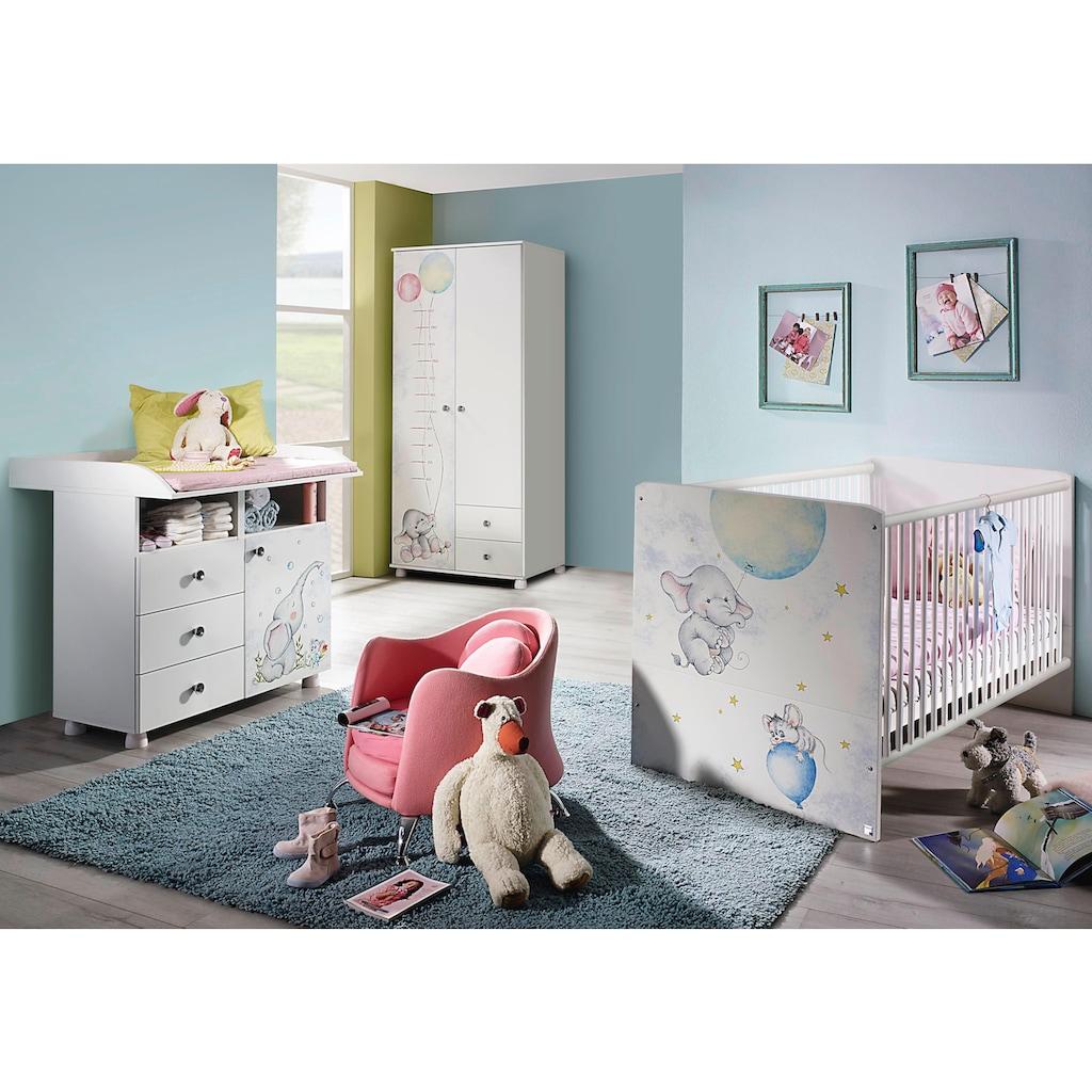 rauch ORANGE Babyzimmer-Komplettset »Vancouver«, (Set, 3 St.), Bett + Wickelkommode + 2 trg. Schrank