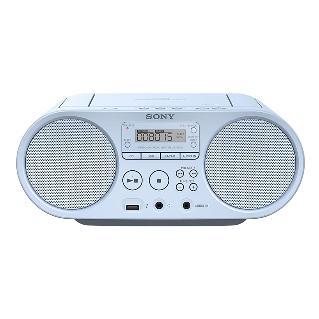 Sony Boombox »ZS-PS50«, (AM-Tuner-FM-Tuner 4 W), CD-Laufwerk, Front-USB, MP-3