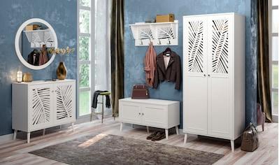 """Home affaire Garderobenpaneel »Tropical«, Garderobenpaneel """"Tropical"""" mit Spiegelfront und ausgefrästen Profilen kaufen"""