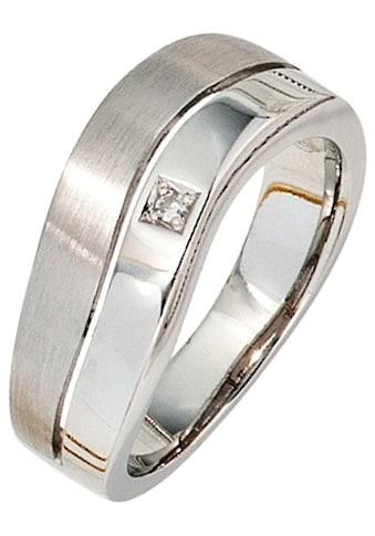 JOBO Diamantring, 585 Weißgold mit 1 Diamant kaufen