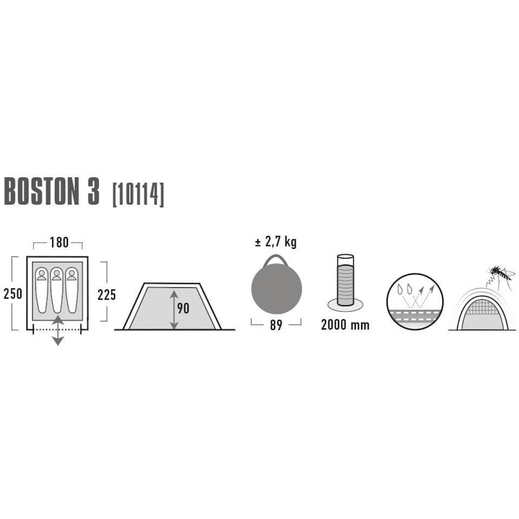 High Peak Wurfzelt »Boston 3«, 3 Personen, (mit Transporttasche)