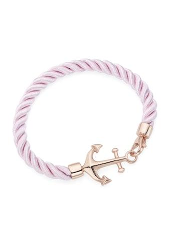 Smart Jewel Armband »Textil, in rose mit Anker« kaufen