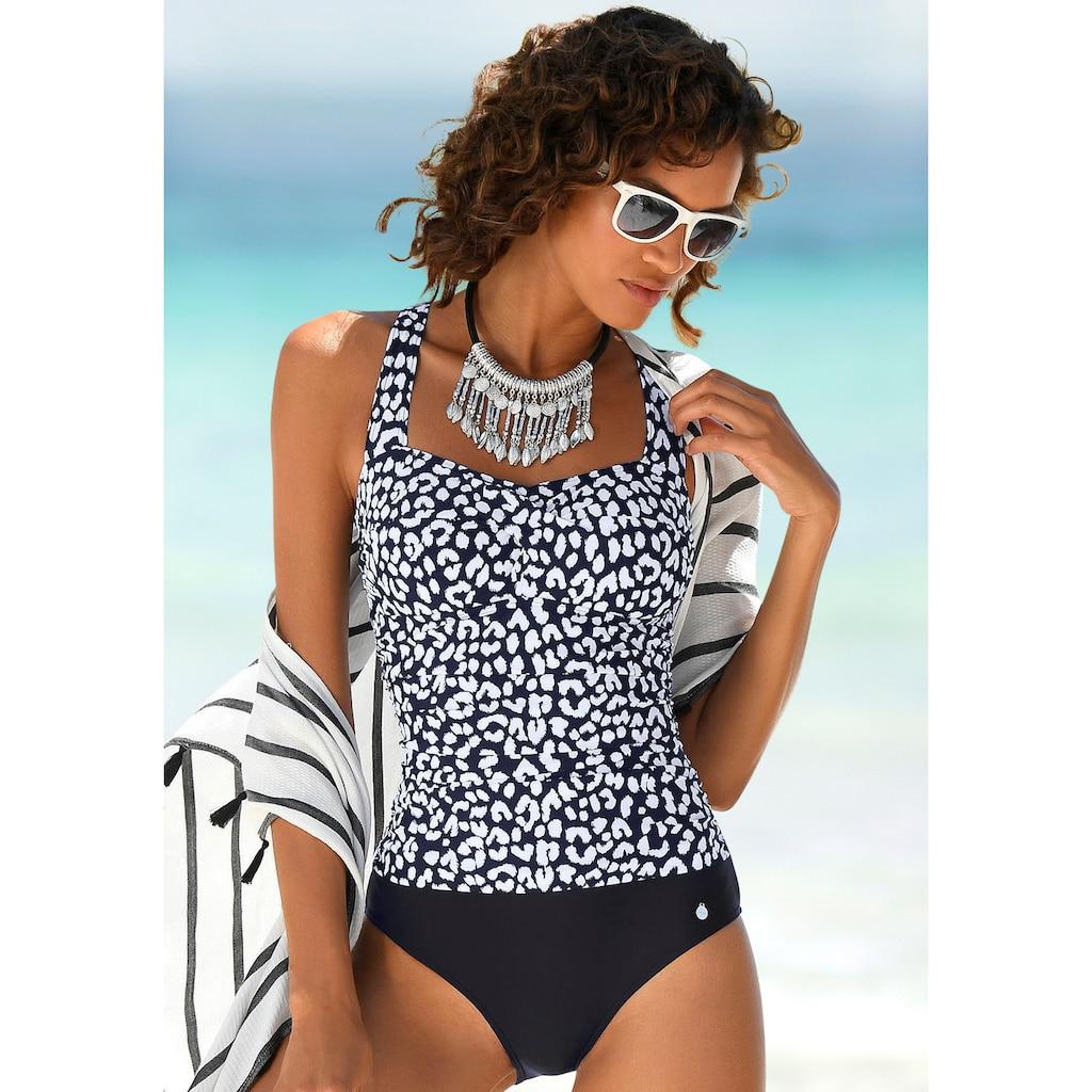 LASCANA Badeanzug, mit trendigem schwarz-weiß Druck