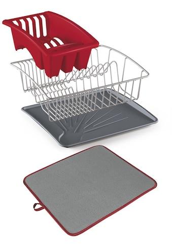 Metaltex Geschirrständer »Aquanet«, (Set, 4 tlg.), inklusive Softex-Abtropfmatte kaufen