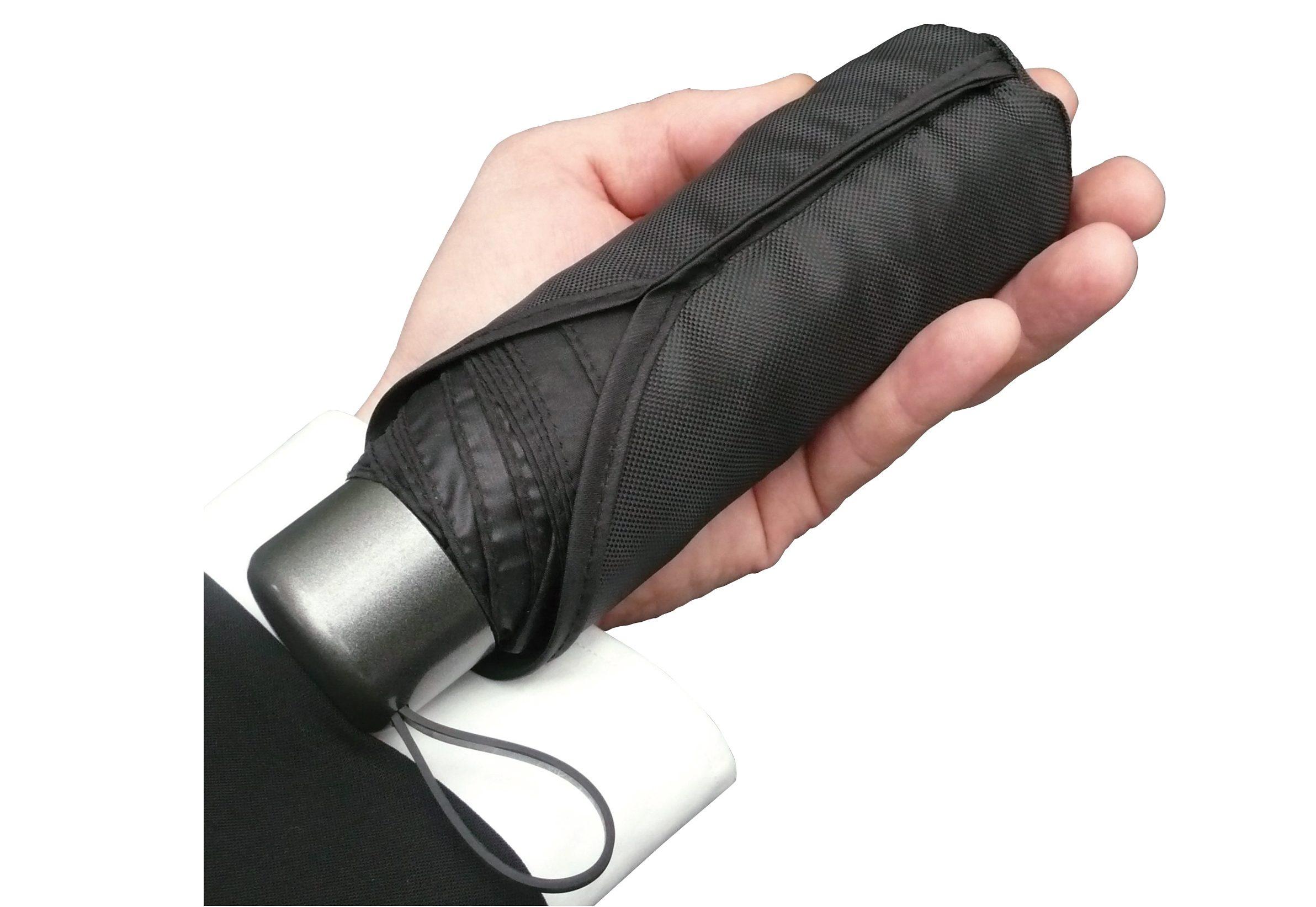 Euroschirm Taschenregenschirm ´´Der kleine Riese - Mini-Taschenschirm´´   Accessoires > Regenschirme > Sonstige Regenschirme   Schwarz   Glasfaser - Nylon - Polyester   Euroschirm