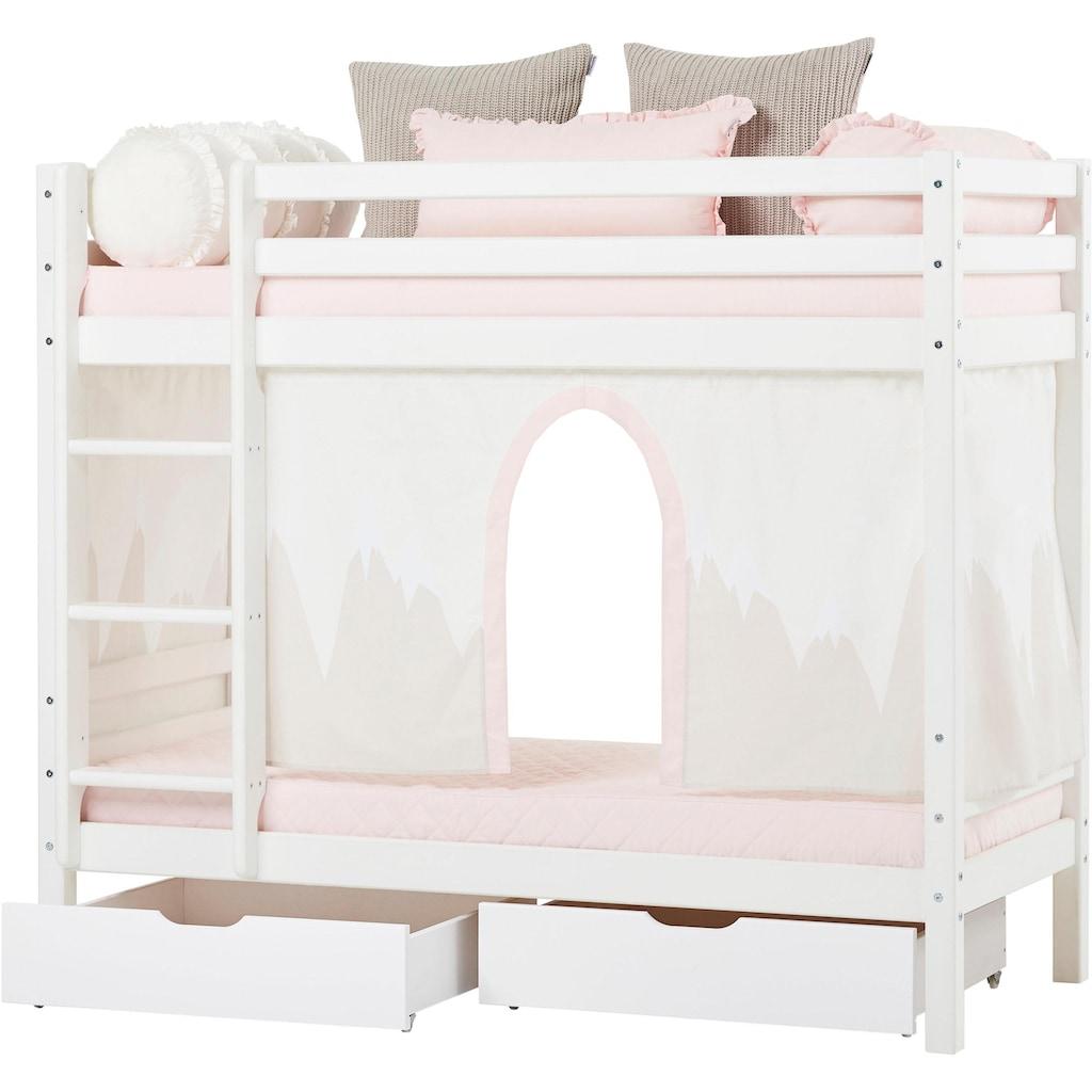 Hoppekids Etagenbett »Winter Wonderland«, (Set, 4 St., Bett, Vorhang und zwei Matratzen)
