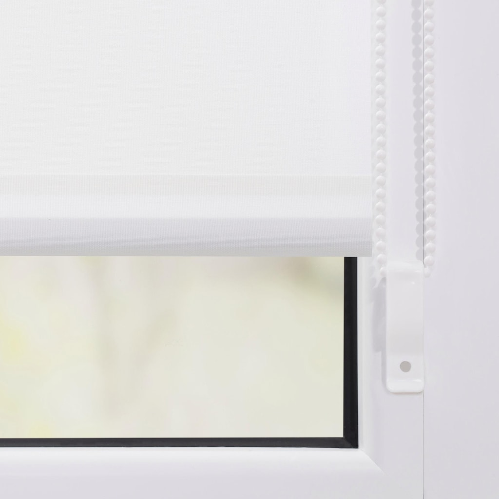 LICHTBLICK ORIGINAL Seitenzugrollo »Klemmfix Motiv Fuchs im Schnee«, Lichtschutz, ohne Bohren, freihängend, bedruckt