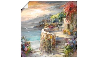 Artland Wandbild »Möwen und Sonnenuntergang«, Gewässer, (1 St.), in vielen Größen &... kaufen