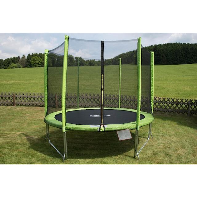 STAMM SPORTS Gartentrampolin, Ø 244 cm, (2), Anti-Roll-Over-Schutz, farbig verkleidete Netzpfosten
