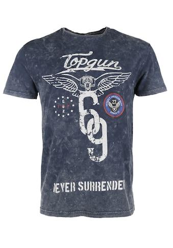 TOP GUN T-Shirt »Flags«, sportlicher Schnitt kaufen
