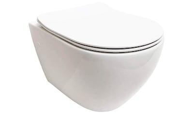 ADOB Tiefspül-WC, Spülrandlos, inkl. Slim-WC-Sitz und Schallschutzmatte kaufen