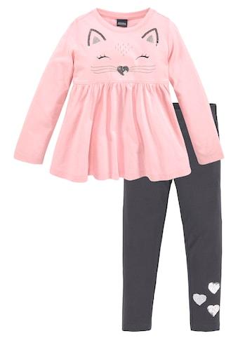 KIDSWORLD Langarmshirt & Leggings, mit schöner Paillettenapplikation kaufen