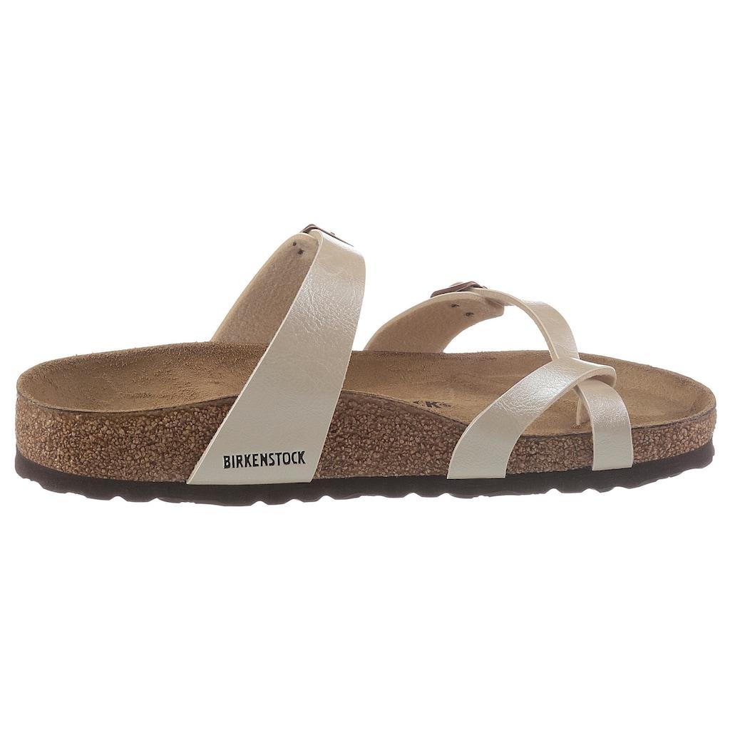 Birkenstock Zehentrenner »Mayari«, mit ergonomisch geformtem Fußbett
