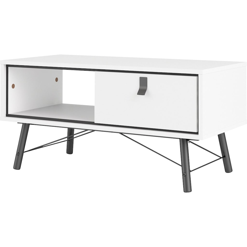 Home affaire Couchtisch »RY«, Couchttisch mit 1 Schublade und einem Ablagefach unter der Tischplatte, Massivholzbeine, auch in einer anderen Farbe erhältlich