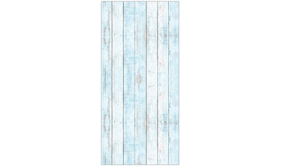 MySpotti Spritzschutz »fresh F3 Wood Light Blue«, 100 x 210 cm kaufen