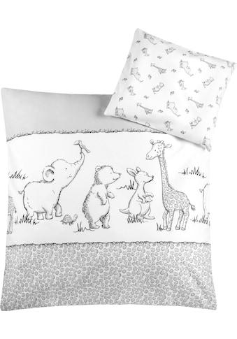 Julius Zöllner Kinderbettwäsche »Safari«, mit unterschiedlichen Tieren kaufen