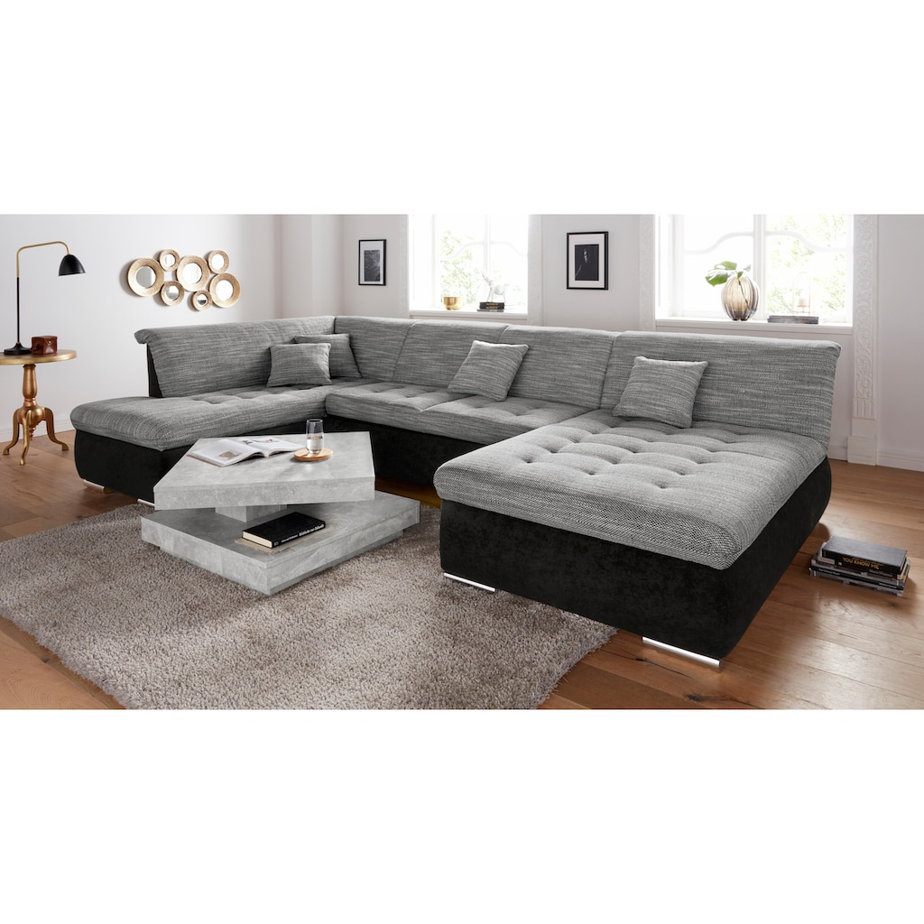 DOMO collection Wohnlandschaft, XL oder XXL, wahlweise mit Bettfunktion und Bettkasten