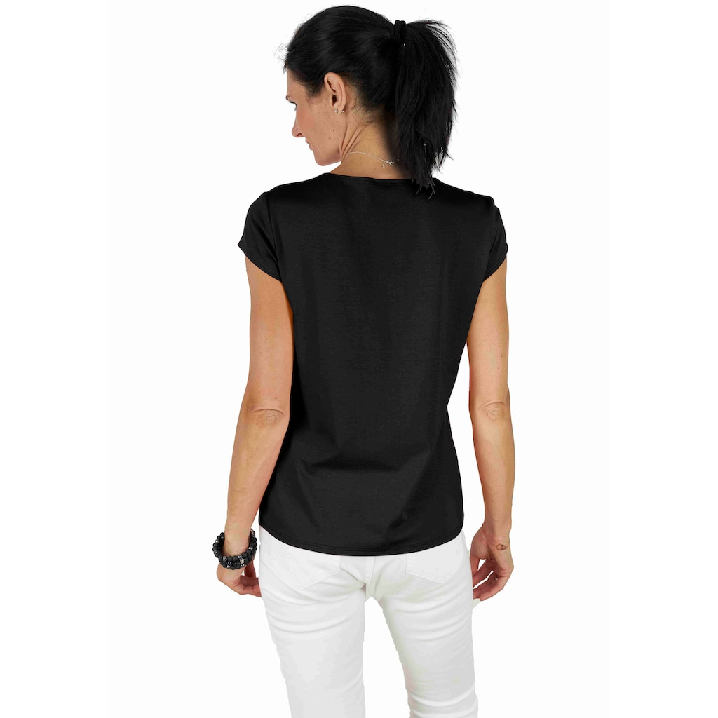 Seidel Moden Rundhalsshirt, Basic-Shirt mit Kurzarm, Made in Germany