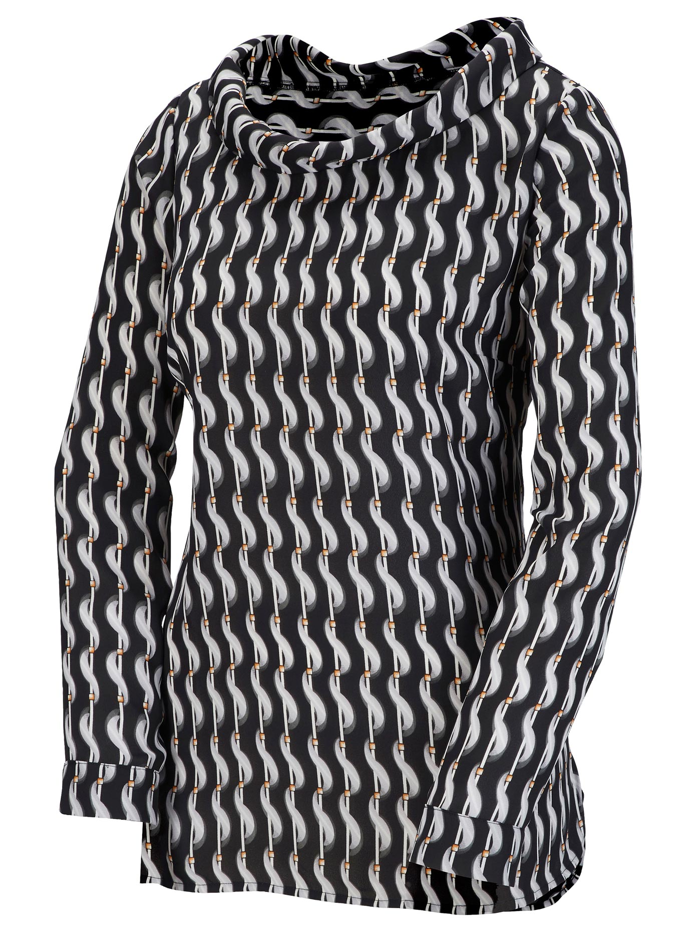 création L Bluse mit überlappendem Rückenteil