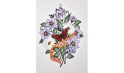 Stickereien Plauen Fensterbild »Blumenband Fensterbild« (1 Stück) kaufen