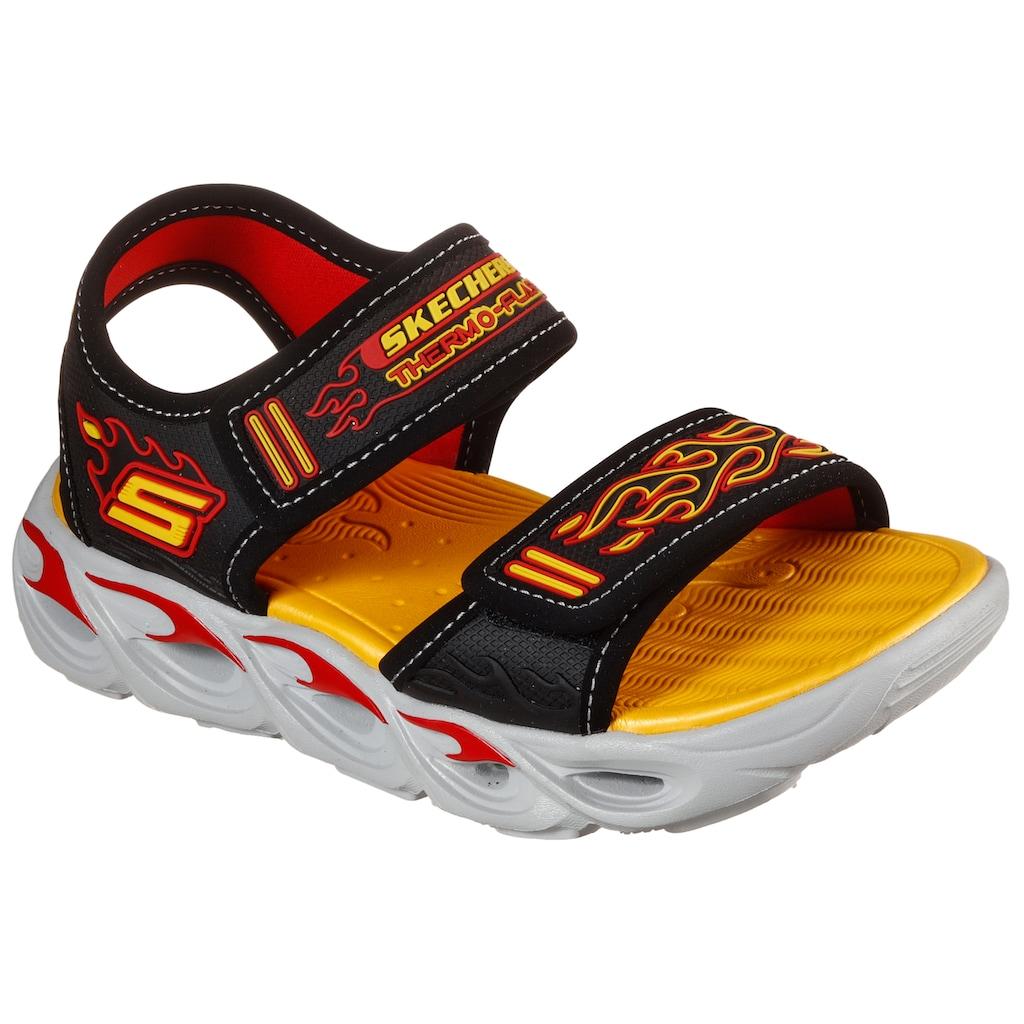 Skechers Kids Sandale »THERMO-SPLASH«, mit Flammen-Applikation