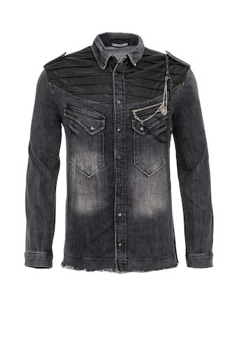 Cipo & Baxx Jeanshemd, mit Kettendetail kaufen