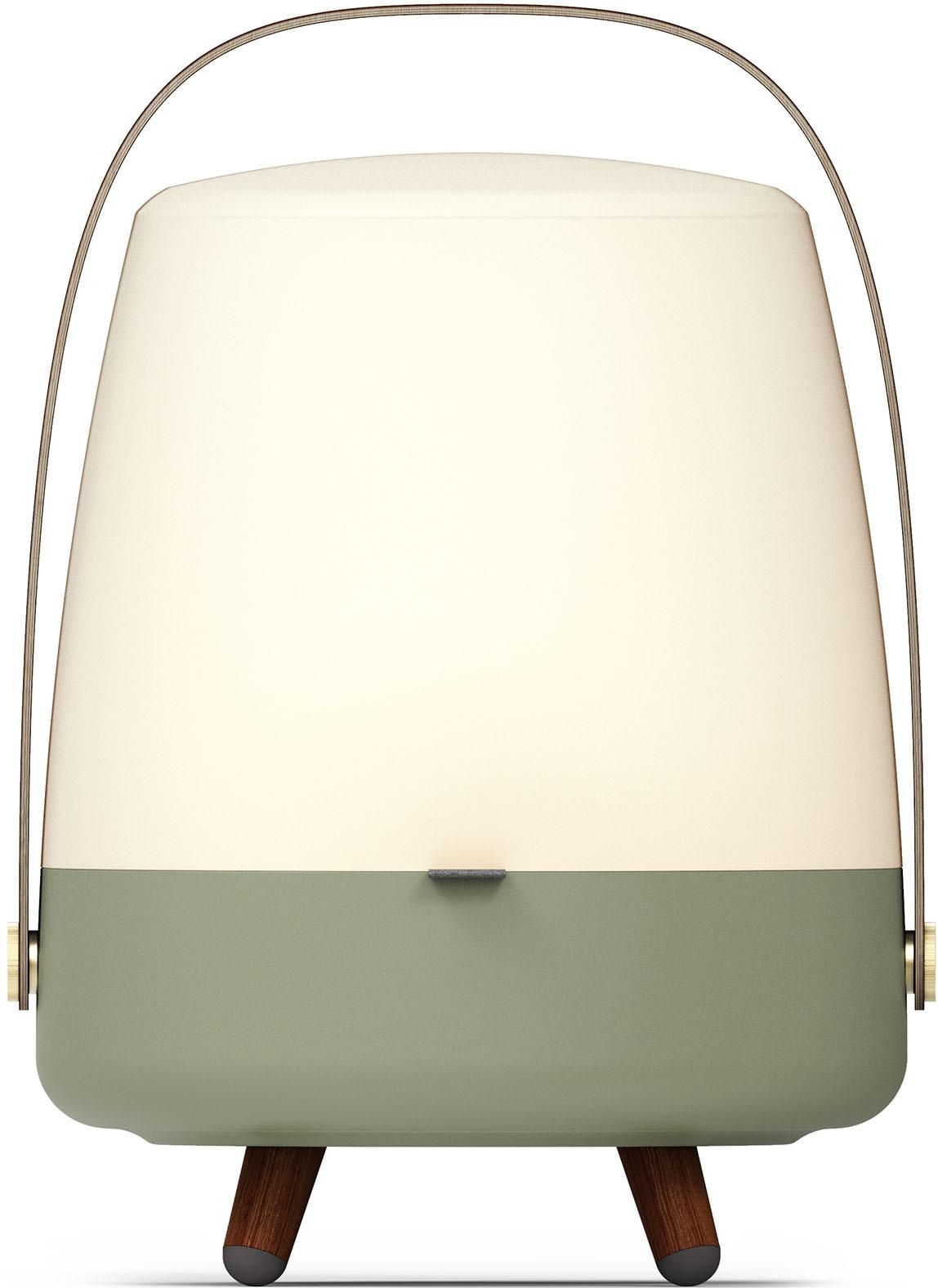 kooduu LED Tischleuchte Lite-up Play S, LED-Board, Warmweiß, tragbare LED Designer-Lampe, Bluetooth Lautsprecher mit Akku, eine witere S-Lampe koppelbar