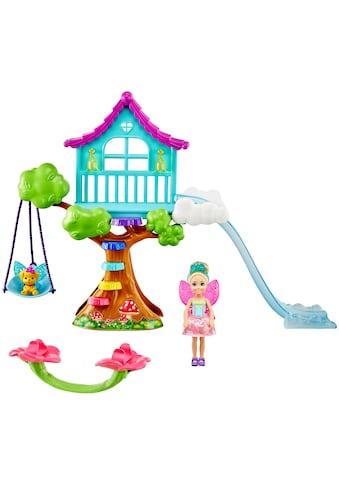 Barbie Puppenhaus »Dreamtopia Chelsea Feen-Baumhaus-Spielset mit Puppe« kaufen