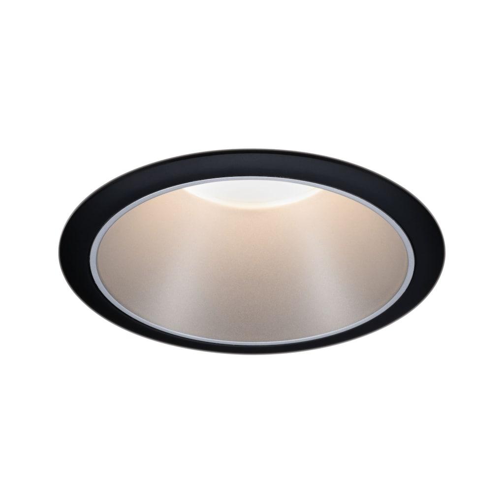 Paulmann LED Einbaustrahler »Cole 6,5W Schwarz/Silber matt 3-Stufen-dimmbar 2700K Warmweiß«, Warmweiß