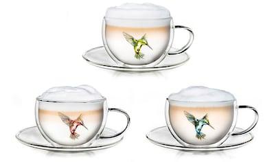 Creano Thermotasse »Hummi«, (Set, 3 tlg.), 3 Tassen, 3 Unterteller kaufen
