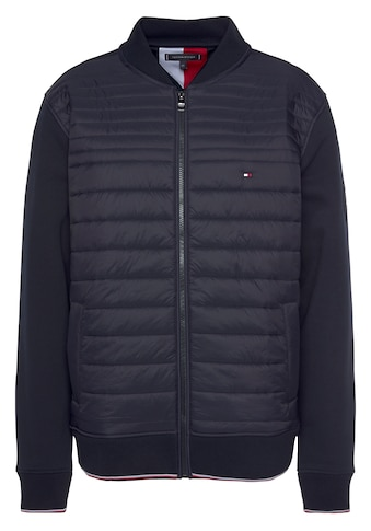 TOMMY HILFIGER Sweatjacke »MIXED MEDIA BASEBALL ZIP THROUGH« kaufen