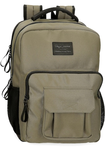 Pepe Jeans Laptoprucksack »Denton, khaki«, mit USB-Anschluss, enthält recyceltes... kaufen