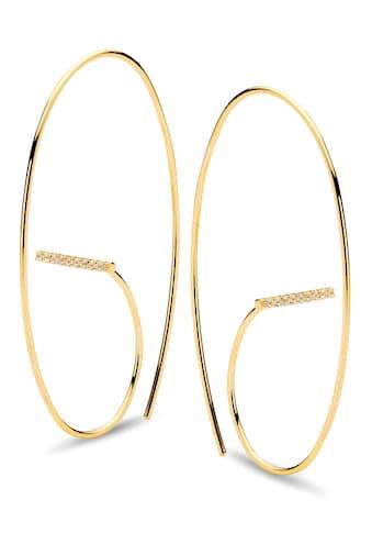 NANA KAY Paar Ohrhänger »ST1749, Curvey«, mit Zirkonia kaufen