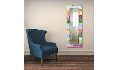 Artland Wandspiegel »Farbiger Holzhintergrund«, gerahmter Ganzkörperspiegel mit... kaufen