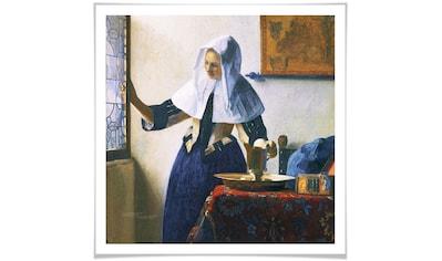 Wall-Art Poster »Frau mit Wasserkanne am Fenster«, Person, (1 St.), Poster, Wandbild, Bild, Wandposter kaufen