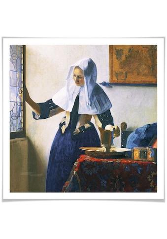 Wall-Art Poster »Frau mit Wasserkanne am Fenster«, Person, (1 St.), Poster, Wandbild,... kaufen