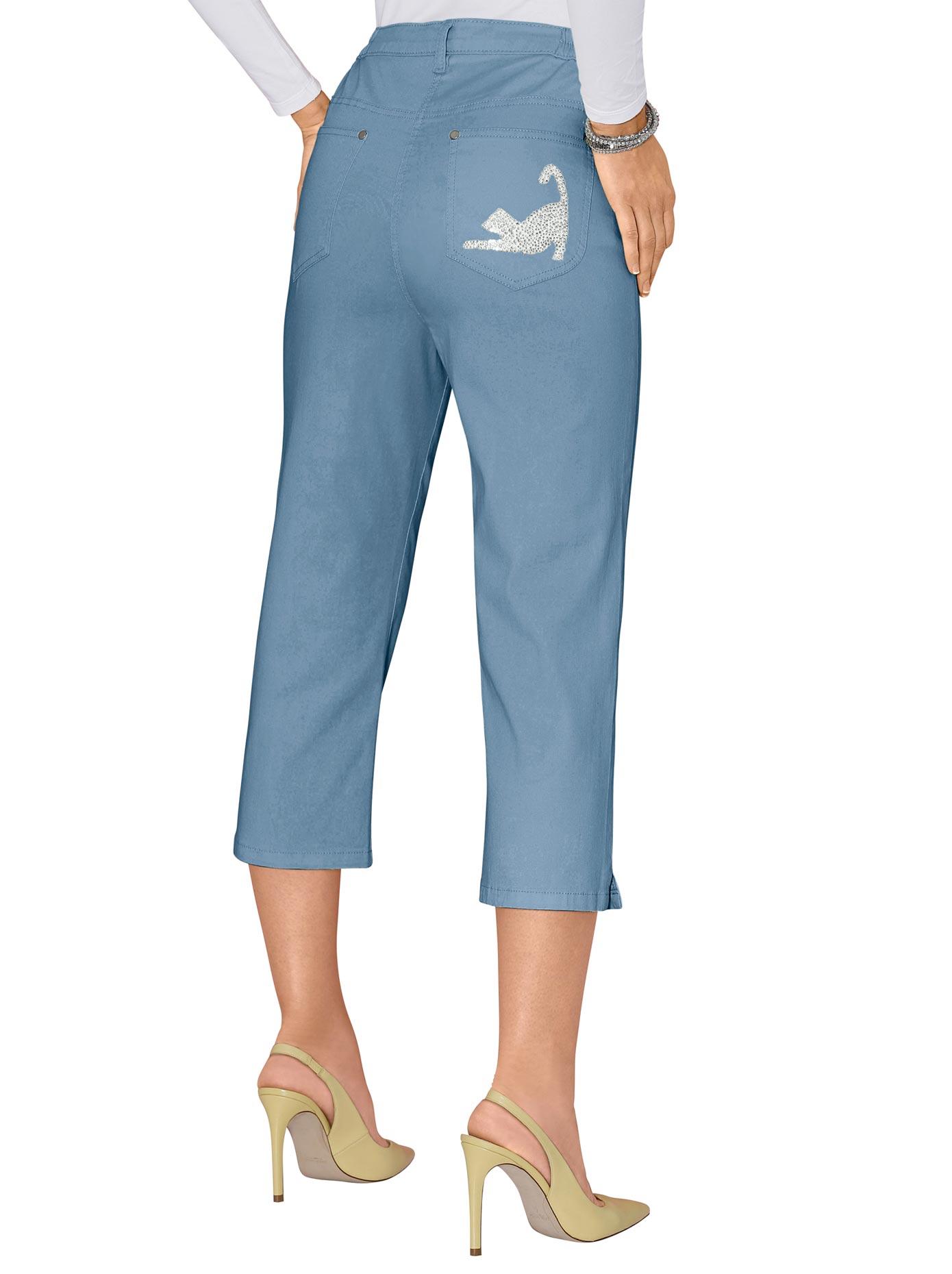 Classic Basics Capri-Jeans mit seitlichem Dehnbund | Bekleidung > Jeans > Caprijeans | Classic Basics