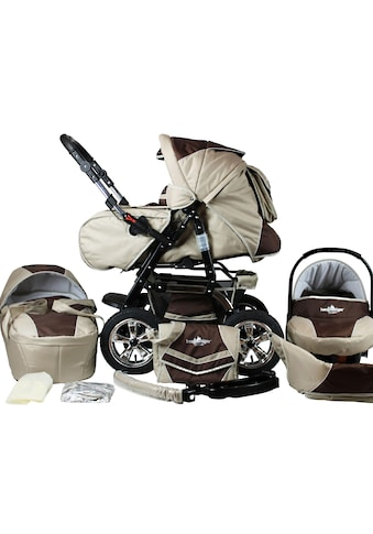 "bergsteiger Kombi - Kinderwagen ""Milano, coffee & brown, 3in1"", (10 - tlg.) kaufen"
