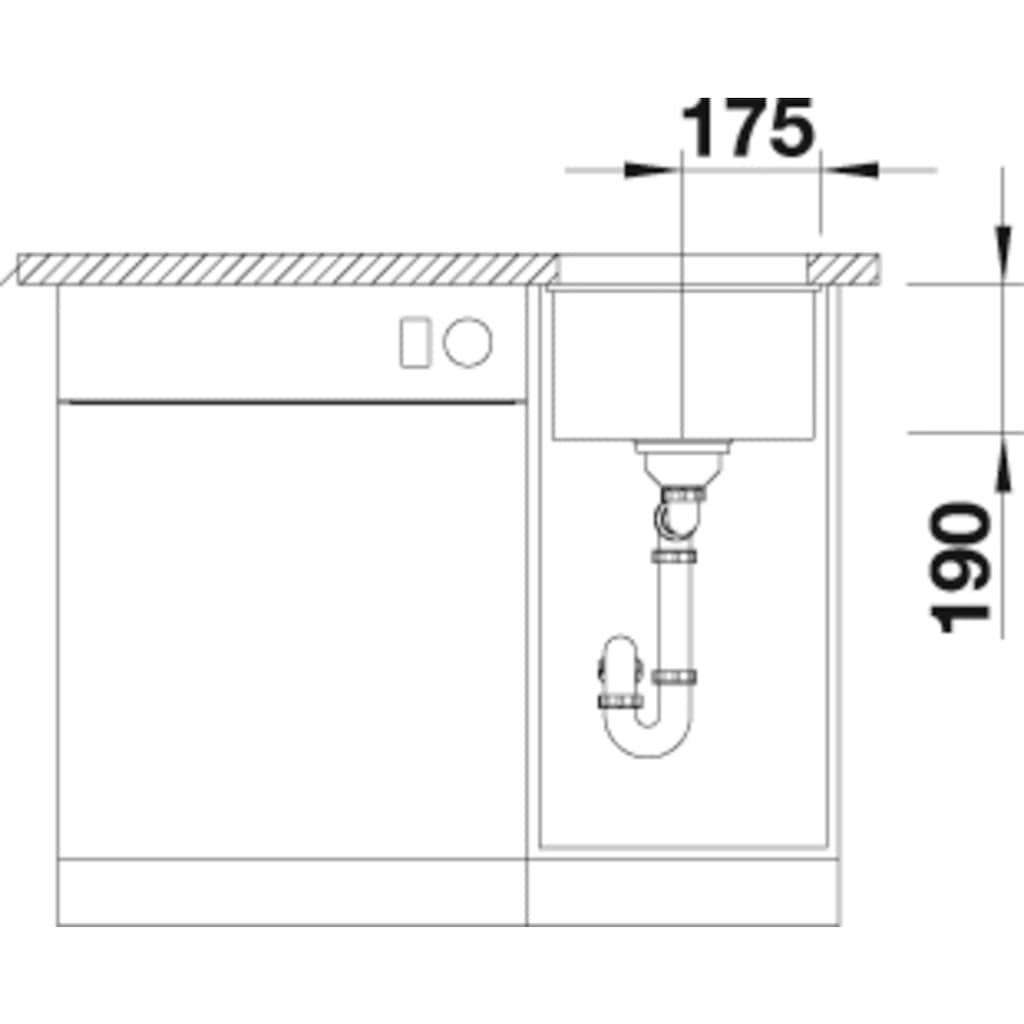 Blanco Granitspüle »SUBLINE 320-U«