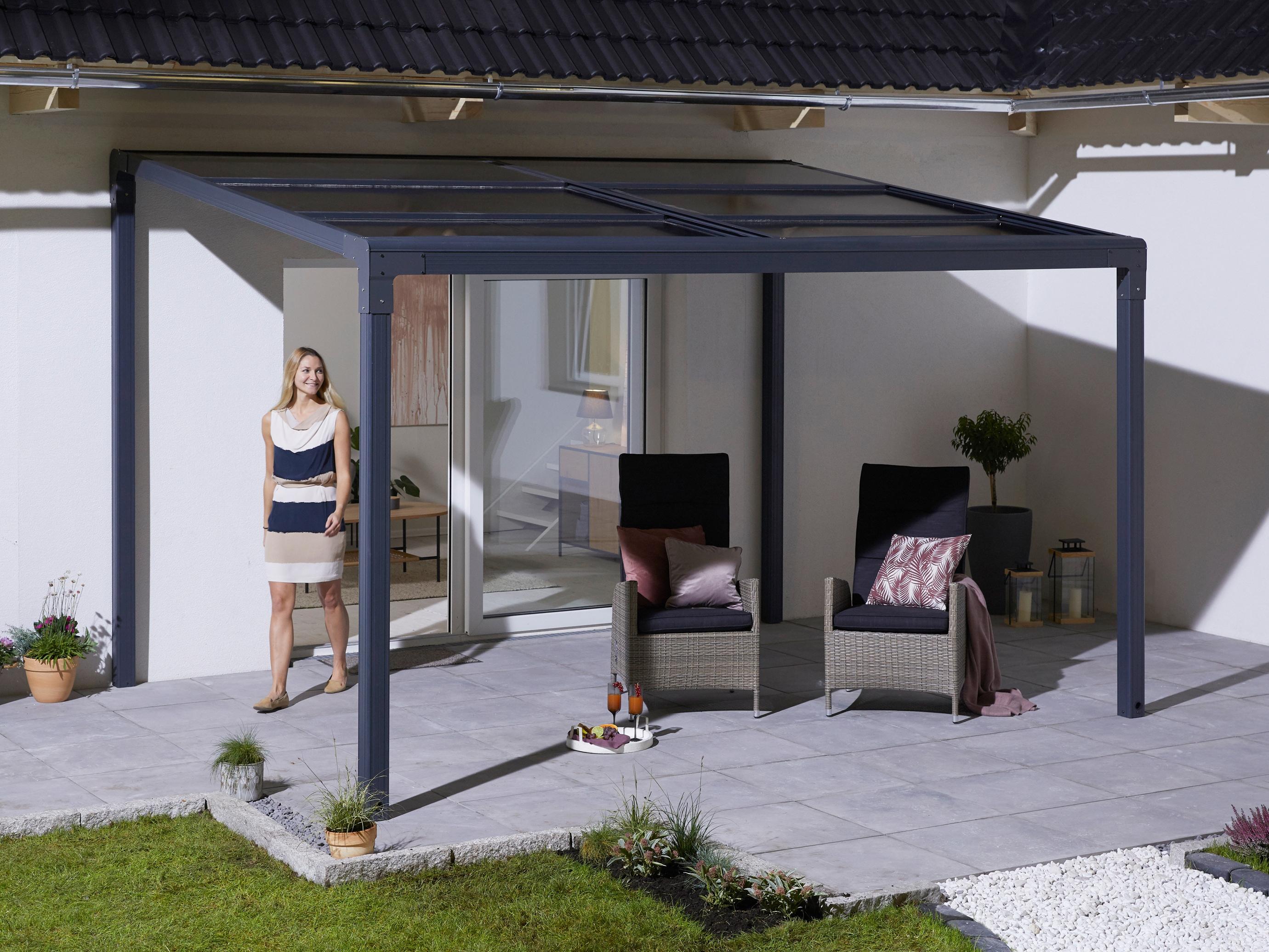 KONIFERA Anbaupavillon Anguilla, BxT: 300x400 cm, Aluminium, Polycarbonat-D günstig online kaufen