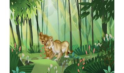 Komar Fototapete »Lion King Love«, Comic-mehrfarbig kaufen