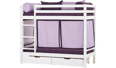 Hoppekids Etagenbett »Beautiful Bloom«, (Set, 4 tlg., Bett, Vorhang und zwei Matratzen) kaufen