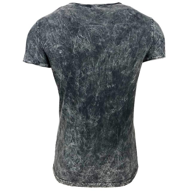Rusty Neal T-Shirt mit coolem Allover-Print