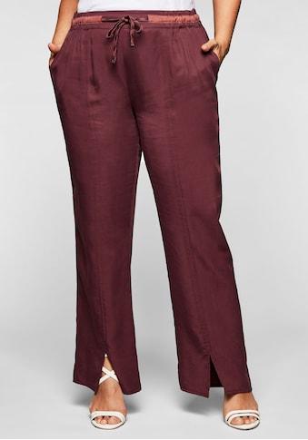 Sheego Stoffhose, in gerader Form, mit Tunnelzug und Bindeband kaufen