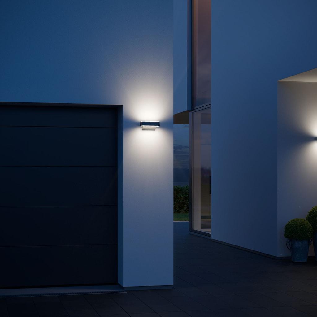 steinel Außen-Wandleuchte »L 810 LED iHF«, LED-Board, 1 St., Warmweiß, 160° Erfassungsbereich, max. 5 m Reichweite, Zeiteinstellung von 5 Sek. - 15 Min., Grundlichtfunktion, 4h Dauerlicht, Softlichtstart, regenwassergeschützt, Gehäuse aus Aluminium