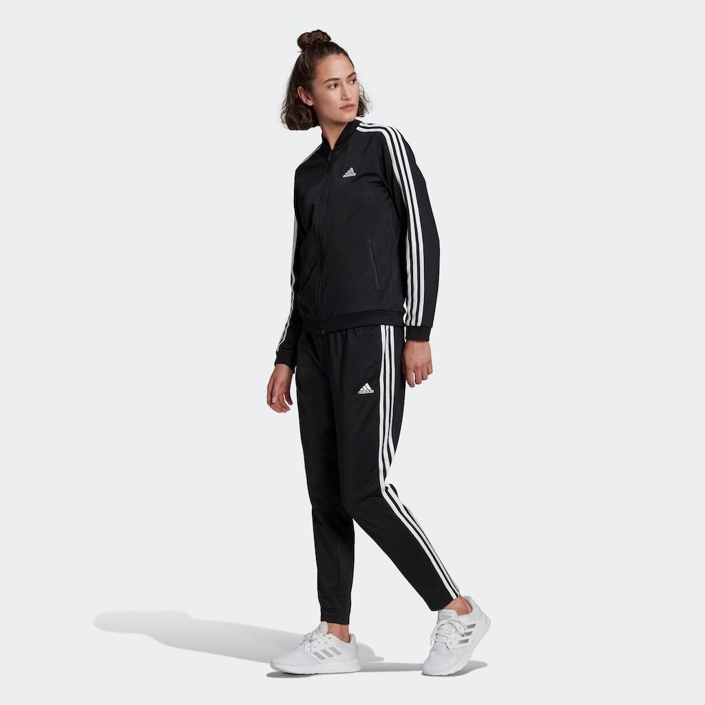 adidas Performance Trainingsanzug »WOMEN ESSENTIALS 3-STRIPES TRACKSUIT«, (Set, 2 tlg.)