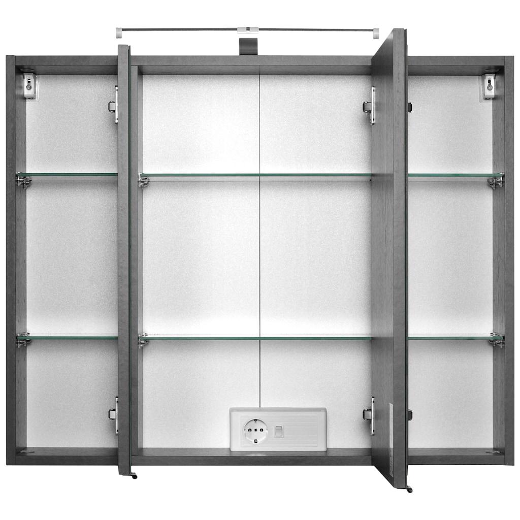 HELD MÖBEL Badmöbel-Set »Florida«, (2 St.), Breite 100 cm, Waschtisch mit gewölbter Form