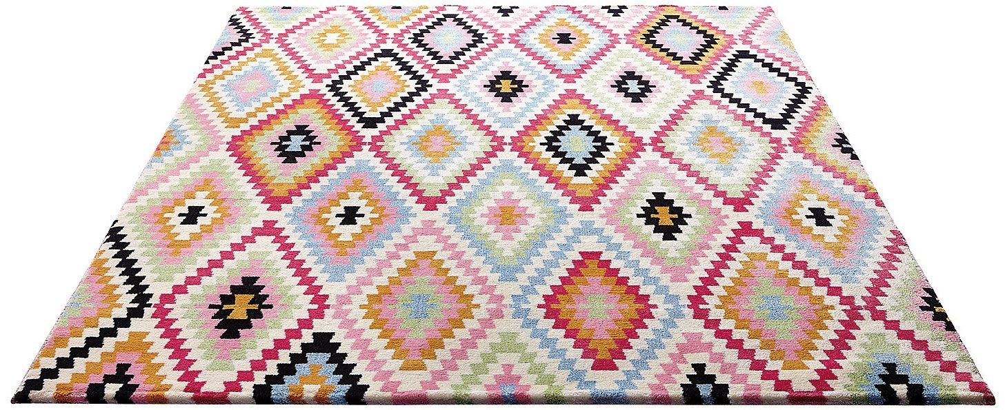 Teppich Fresh Kelim Wecon Home rechteckig Höhe 85 mm maschinell gewebt