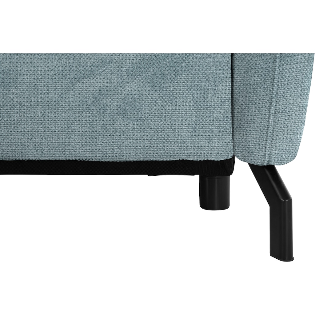 Nova Via Ecksofa, Mit hochwertigem Kaltschaum (140kg Belastung/Sitz) und wahlweise Bettfunktion